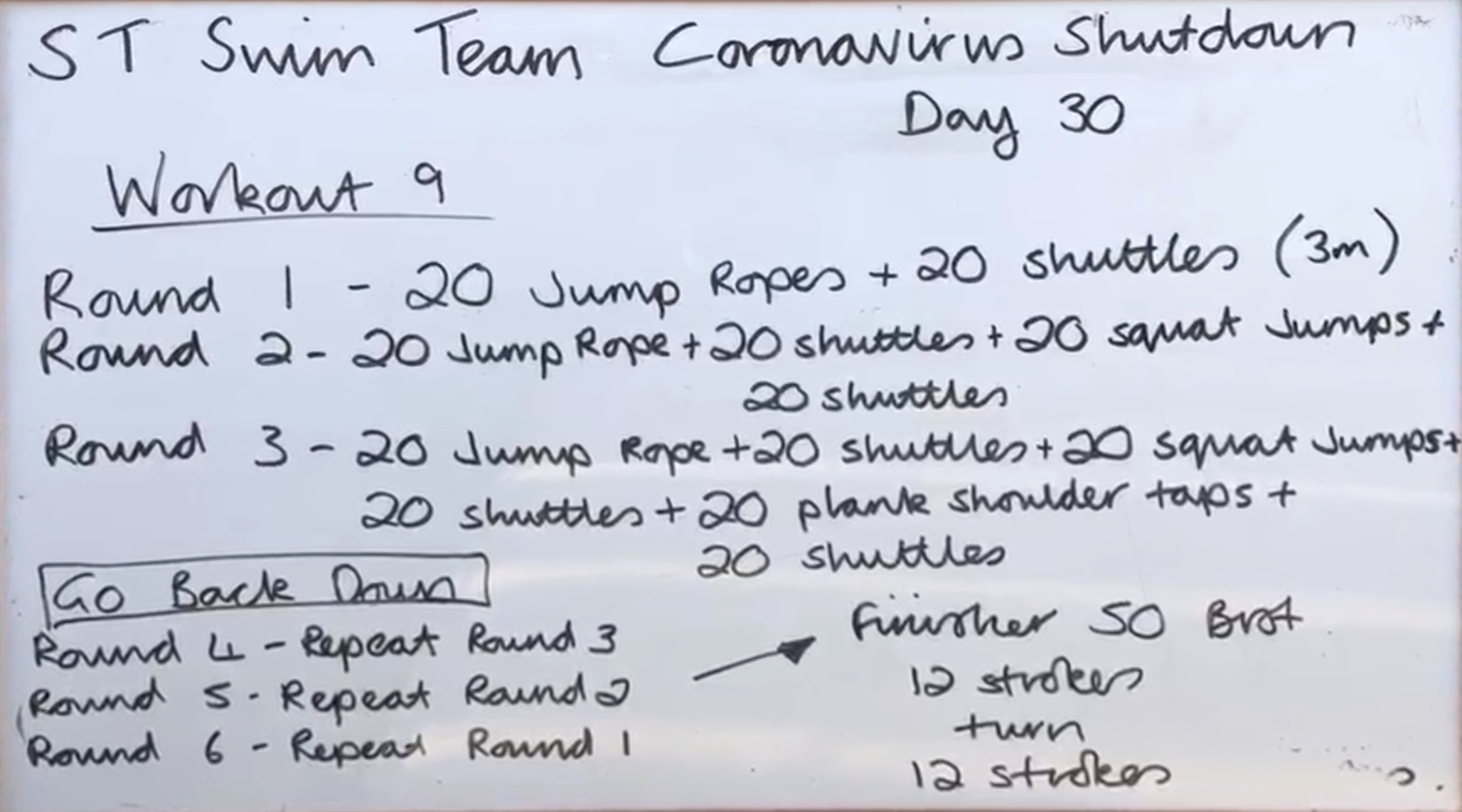 STSC Team Workout 9